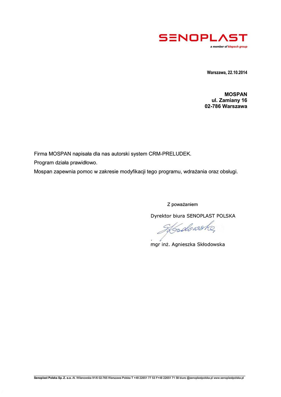 SENOPLAST POLSKA Sp. z o.o.