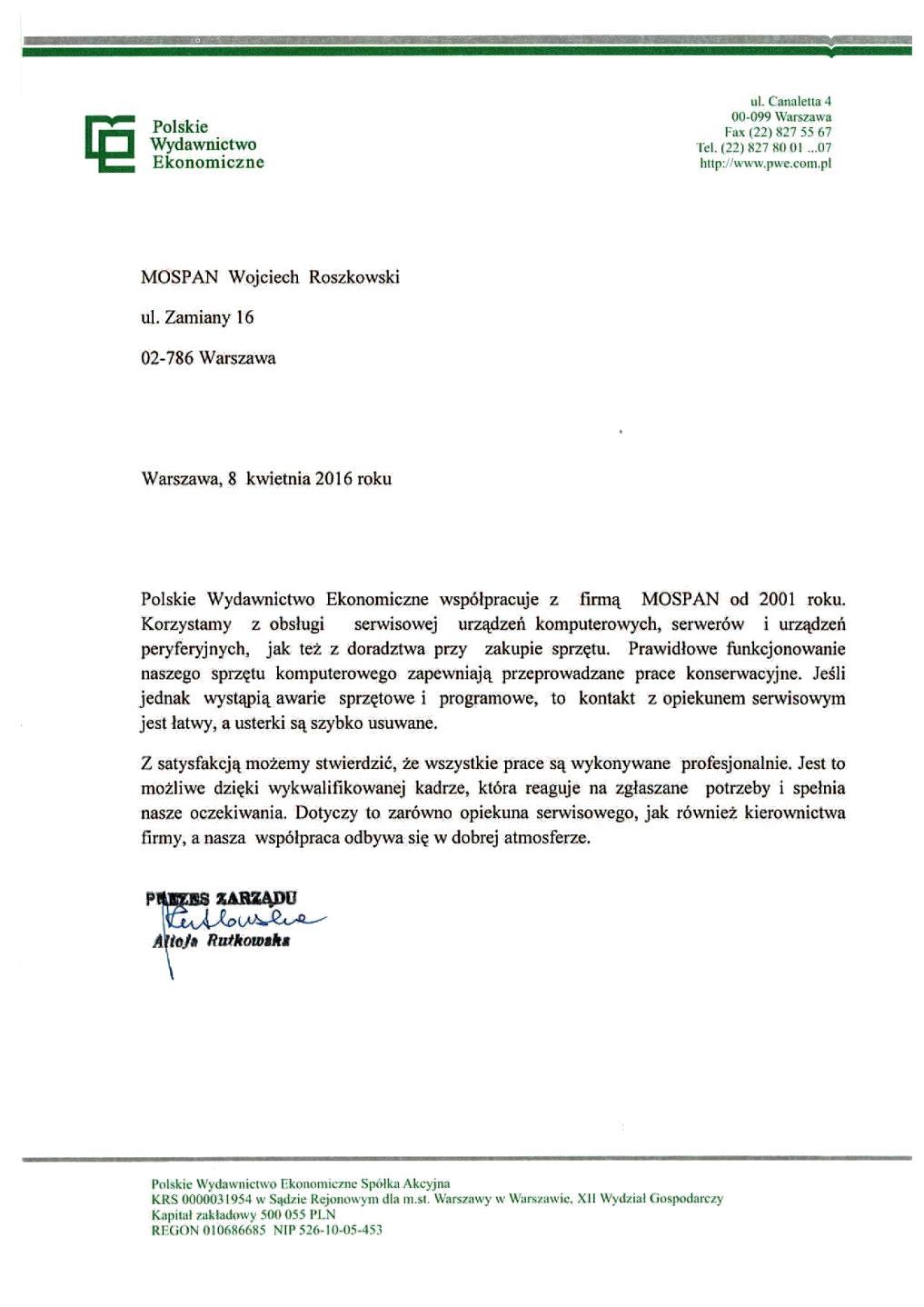 Polskie Wydawnictwo Ekonomiczne S.A.